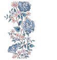 floral seamless pattern flower peony border vector image