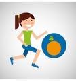 girl jogger orange healthy lifestyle vector image