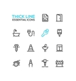 Home Road Repair - Thick Line Icons Set vector image