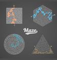 maze labyrinth greek puzzle challenge set vector image