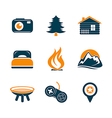 Travel and outdoor icons set vector image