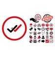 Validation Flat Icon with Bonus vector image