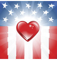 patriotic heart background vector image vector image