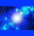 blue technology abstract background vector image