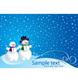 Christmas card with happy smowman vector image