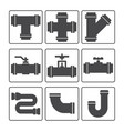 water pipes icon vector image