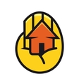 House cupped in the palm of a hand vector image vector image
