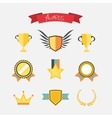 Awards collection vector image vector image