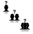 Questioning relationships vector image vector image