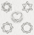 Tattoo style line art shape vector image vector image
