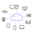 Cloud computing concept technology infographics vector image