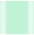 lace frame on green background vector image