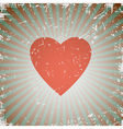 grunge heart vector image vector image