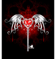 Key with Vampire Heart vector image vector image
