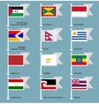 Flags set four-15 vector image