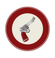 gun wild west icon vector image