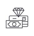 premium finance service concept thin line vector image