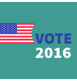 President election day 2016 Voting concept vector image
