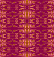 Purple floral ornament seamless vector image