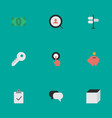 Set of simple business icons elements opening vector image