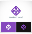 unity circle chain square logo vector image