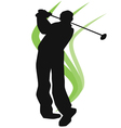 - EPA golfer silhouette vector image