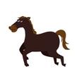 horse ride cartoon icon graphic vector image