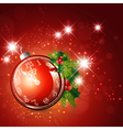 New year red background vector image vector image