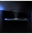 Empty shelf black screen vector image vector image