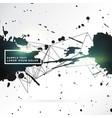 grunge style black ink splatter background design vector image