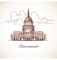 Government building vector image