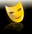 mask of comedy vector image