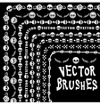 Grunge collection line brushe skull vector image