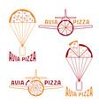 avia pizza concept vector image