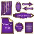 golden framed labels vector image