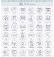 SEO outline icon set Elegant thin line vector image vector image