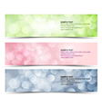 sunny horizontal banners vector image vector image