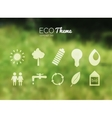 blurred landscape forest ecology icons vector image