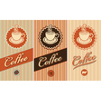 banners for coffee vector image vector image