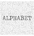 Alphabet theme with letter pattern on the vector image