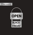 black and white style icon signboard black friday vector image