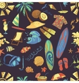 Colored surfing hand draw pattern vector image