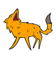 comic cartoon snapping fox vector image