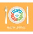 healthy food plate vector image
