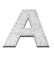 Leather White Textured Letter A vector image