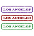 los angeles watermark stamp vector image