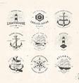 sail logo set vector image