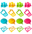 sparkly social media icons vector image