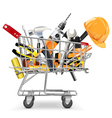 Trolley with Tools vector image