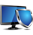 Computer security shield vector image
